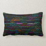 Angelica Text Design I Lumbar Pillow