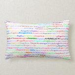 Angelica Text Design II Lumbar Pillow