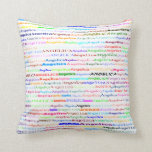 Angelica Text Design II Throw Pillow