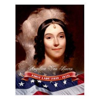Angélica Van Buren, primera señora de los E.E.U.U. Tarjeta Postal