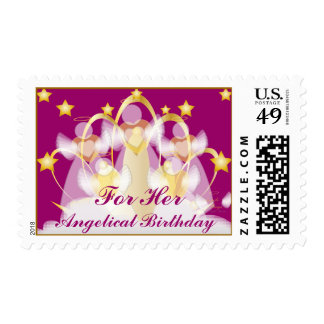 Angelical Birthday For Her-Customize Postage