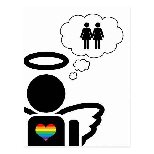 angelicon. sueños lesbianos tarjeta postal