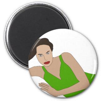 Angelina 2 Inch Round Magnet