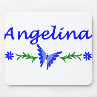Angelina (Blue Butterfly) Mouse Pad