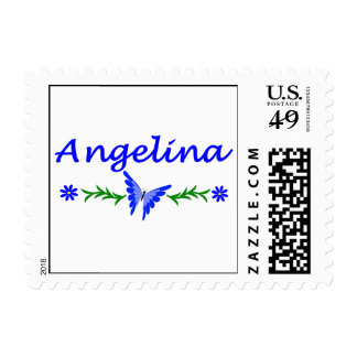 Angelina (Blue Butterfly) Postage