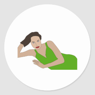 Angelina Classic Round Sticker