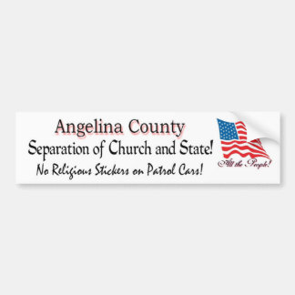 Angelina County - no stickers with flag