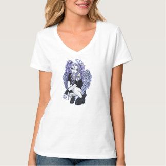 Angelina Gothic Violet Angel Fairy Top T Shirt