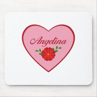 Angelina (heart) mouse pad