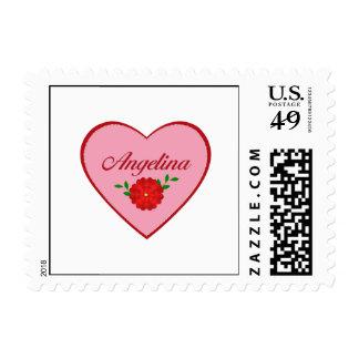 Angelina (heart) postage