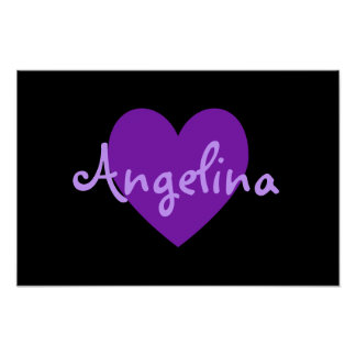Angelina in Purple Poster