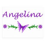 Angelina (mariposa púrpura) postales