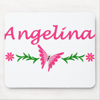 Angelina (Pink Butterfly) Mouse Pad
