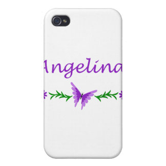 Angelina (Purple Butterfly) iPhone 4 Covers