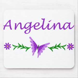 Angelina (Purple Butterfly) Mouse Pad