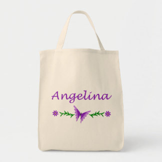 Angelina (Purple Butterfly) Tote Bag