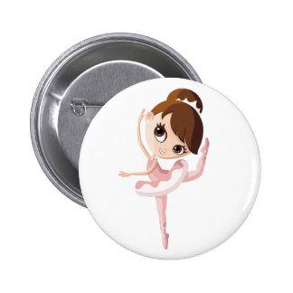 Angelina the Ballerina Button