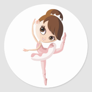 Angelina the Ballerina Classic Round Sticker