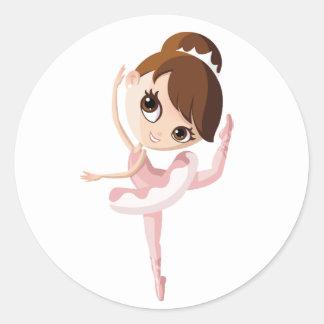Angelina the Ballerina Classic Round Sticker
