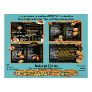 Angelina's Deli -  custom takeout menu