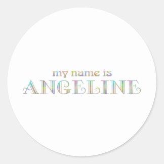 Angeline Classic Round Sticker