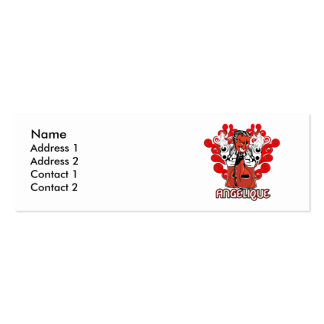Angelique Double-Sided Mini Business Cards (Pack Of 20)