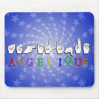 ANGELIQUE FINGERSPELLED NAME SISGN MOUSE PAD