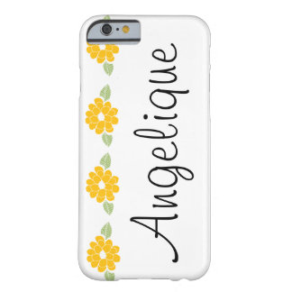 Angelique Name Yellow Flowers Barely There iPhone 6 Case