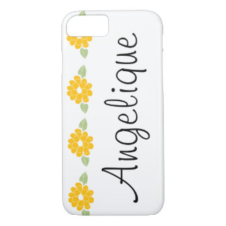 Angelique Name Yellow Flowers iPhone 8/7 Case