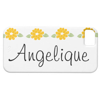 Angelique Name Yellow Flowers iPhone SE/5/5s Case