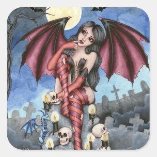 Angelique - pegatina de la hada del vampiro