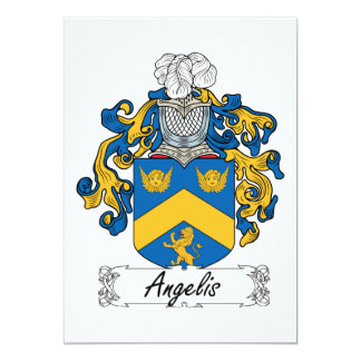 Angelis Family Crest Card