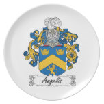 Angelis Family Crest Party Plate