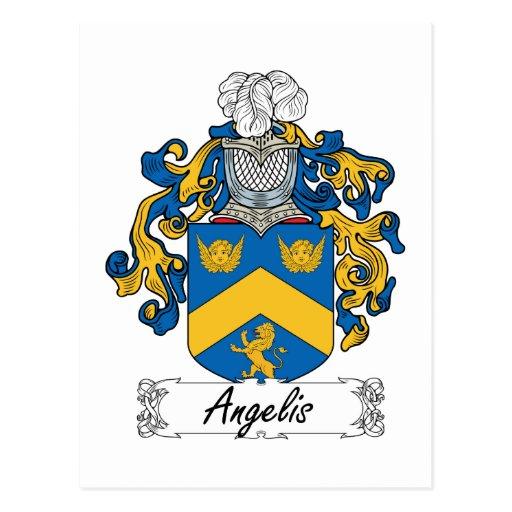 Angelis Family Crest Postcard