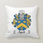 Angelis Family Crest Throw Pillow