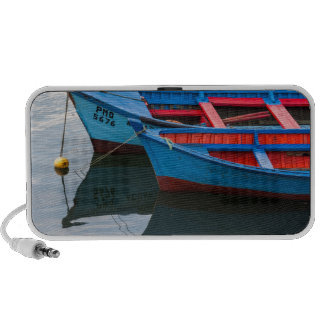 Angelmo harbor, fishing boats. travelling speakers