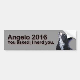 Angelo 2016 bumper sticker