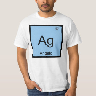 Angelo Name Chemistry Element Periodic Table T-Shirt