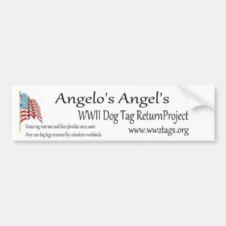 Angelo's Angels WWII Dog Tag Return Project Bumper Sticker