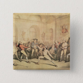 Angelo's Fencing Room, pub. 1787 Button