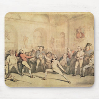 Angelo's Fencing Room, pub. 1787 Mouse Pad