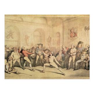 Angelo's Fencing Room, pub. 1787 Postcard