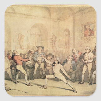 Angelo's Fencing Room, pub. 1787 Square Sticker