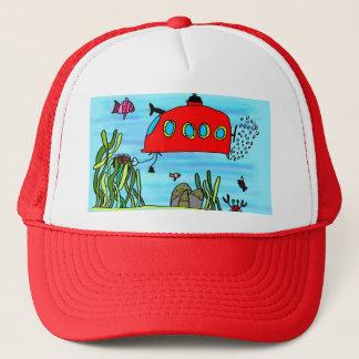Angelos underwater treasure search trucker hat