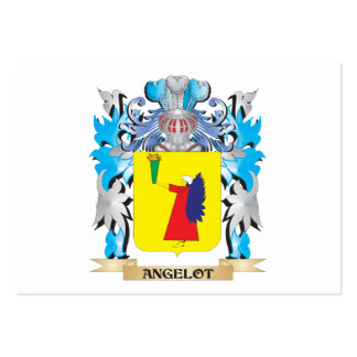 Angelot Coat Of Arms Business Card Template