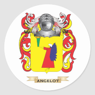 Angelot Coat of Arms (Family Crest) Sticker