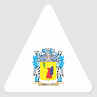 Angelot Coat Of Arms Triangle Stickers