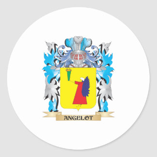 Angelot Coat Of Arms Round Sticker