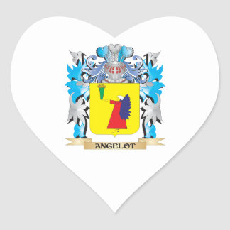 Angelot Coat Of Arms Heart Sticker