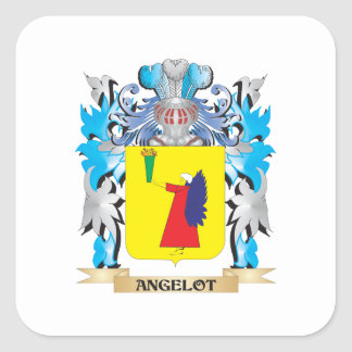 Angelot Coat Of Arms Square Sticker